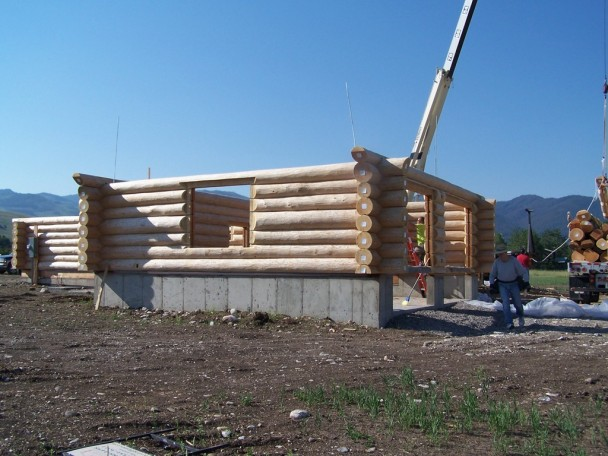 Handcrafted Log Home Sixth Rows Up