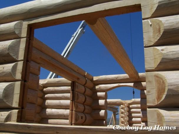 Ledge Cut Handcrafted Log Home