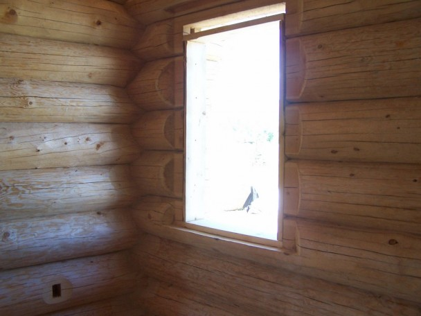 Interior Fir Log Wall