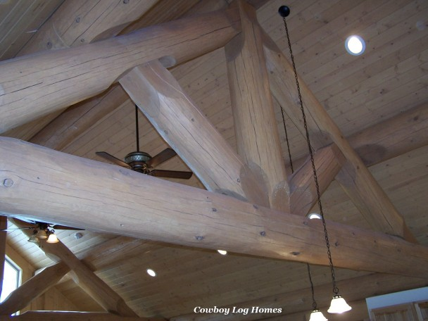 Post and Beam Constructed King Truss