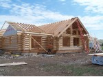 Handcrafted Log Home Construction Stages