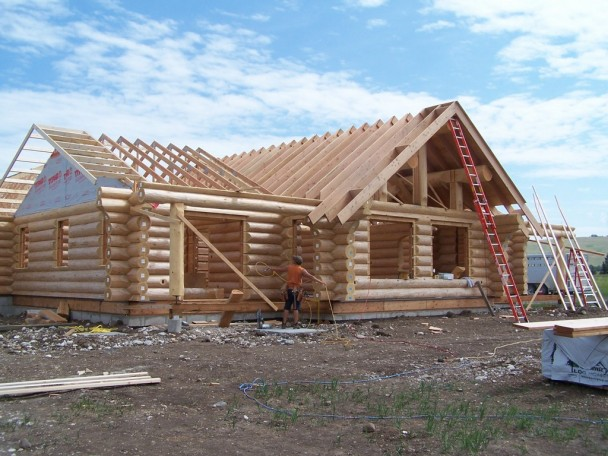 Douglas Fir Log Home Shell