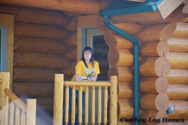 Handcrafted Log Home and Owner Up Close
