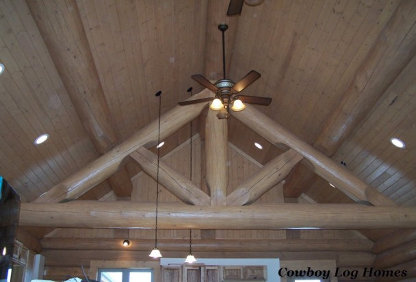 Handcrafted Log Home King Truss
