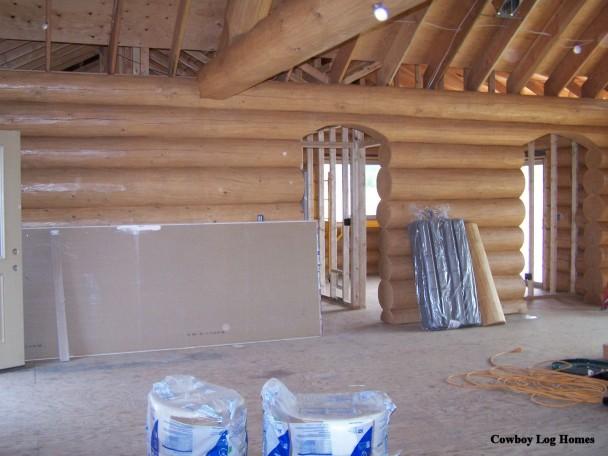 Interior Log Wall
