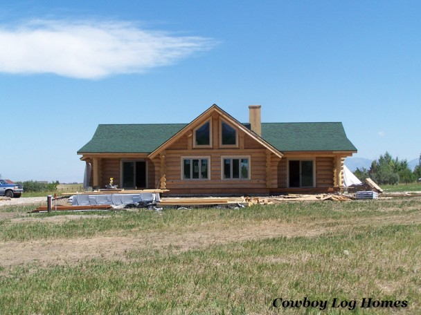Single story log homes joy studio design gallery best for Single story log cabin homes