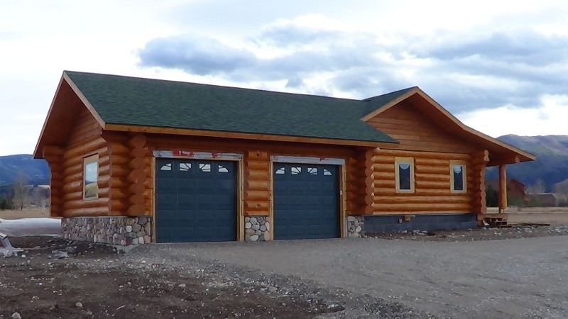 handcrafted log garage cowboy log homes