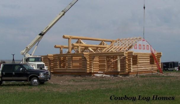 Bear Creek Handcrafted Log Home Plan Under Construction
