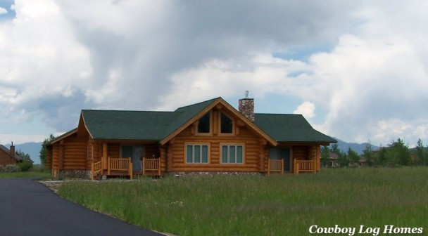 Handcrafted Douglas Fir Log Home
