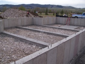 Log Home Foundation Work
