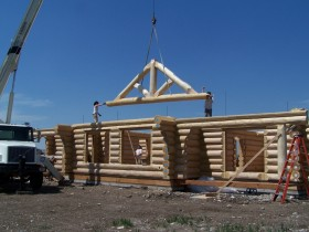 Reassembly Log Home Shell