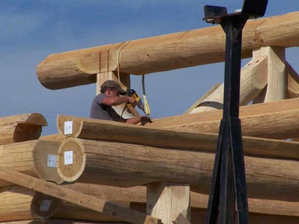 Douglas Fir Log Connection Handcrafted Log Home