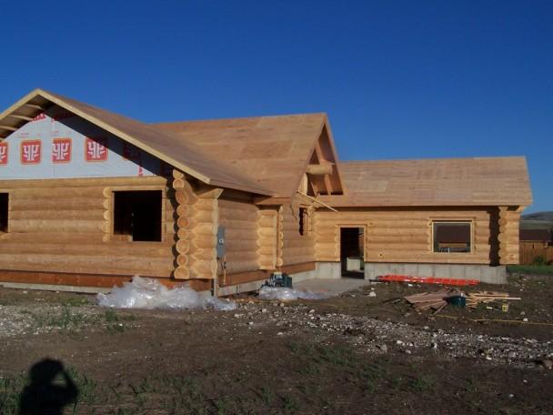 Fir Log Home Shell