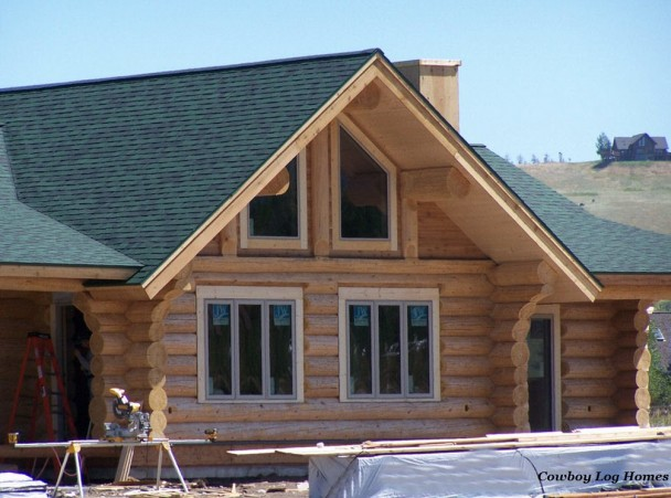 Douglas Fir Handcrafted Log Home