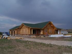Exterior Log Home Work