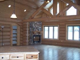 Interior Log Home Work