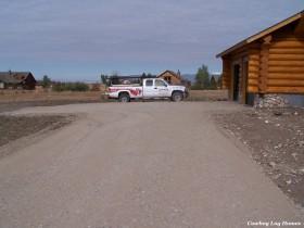 Log Home Driveway