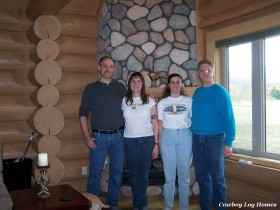 Log Home Interior Completed