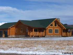Douglas Fir Log Home Photos