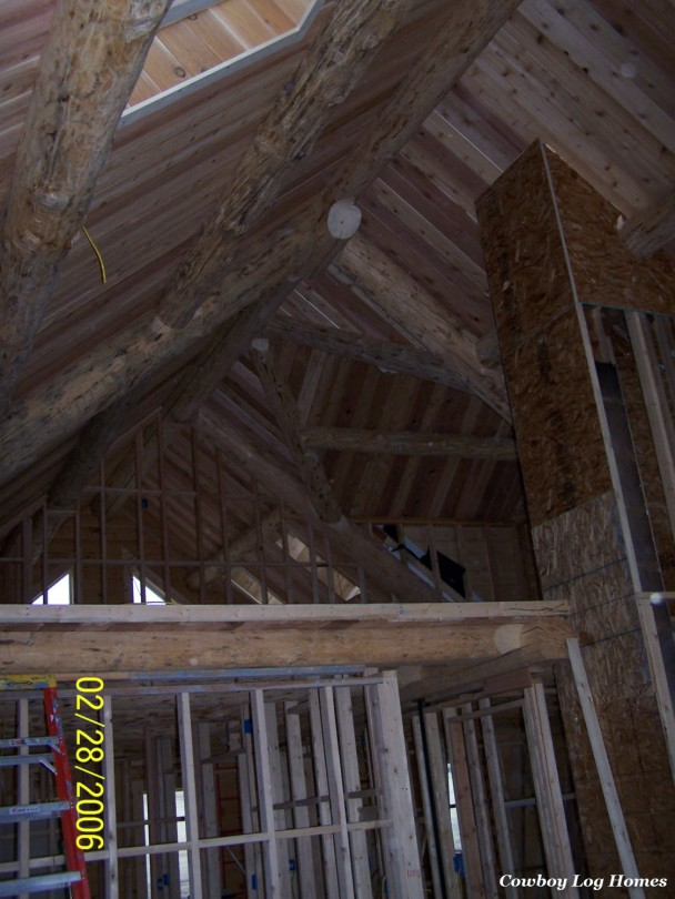 Building Milled Log Home in Montana