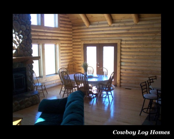 Dining Area of Log Home