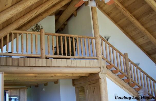 Half Loft in Log Home