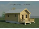 Small log cabin kits cowboy log homes for 2000 sq ft log cabin cost