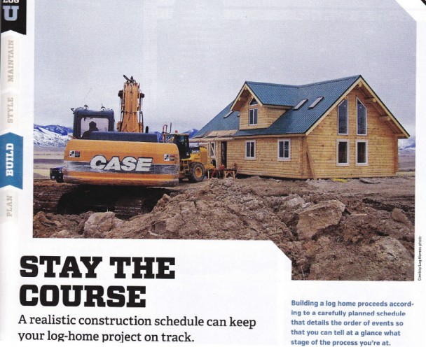 Log Home Under Construction Featured Photo