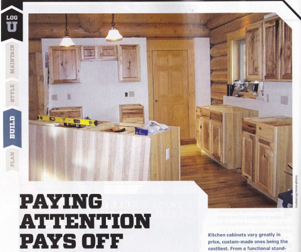 Log Home Living Feature