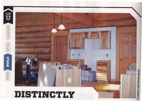 Featured Log Home Kitchen