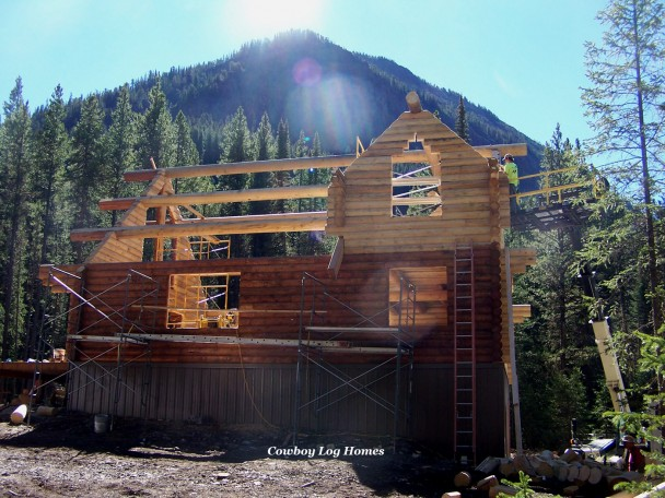 Log Home with Stacked Log Dormer