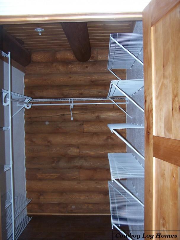 Walk In Closet in Log Home Master Suite