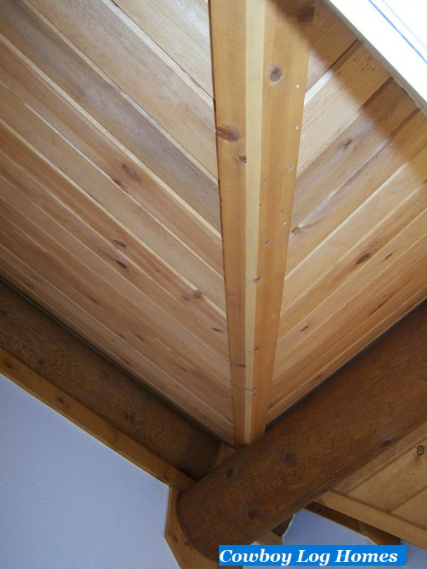 Interior of Dormer in Log Home