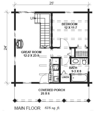 Cabin 24x24 house plans omahdesigns net for House plans 24x24