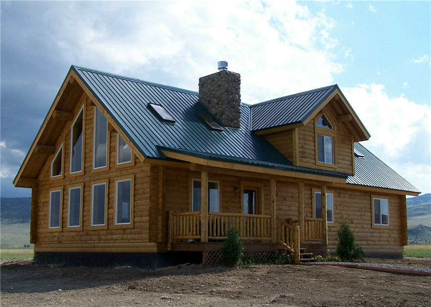 Cost to build a log home cowboy log homes for Cost of building a house in montana
