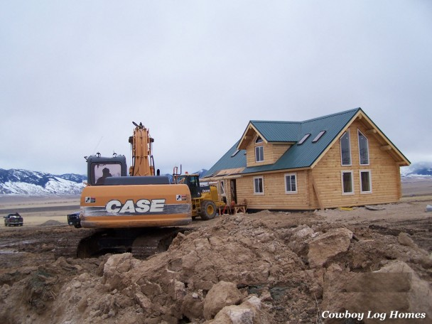log homes with excavation