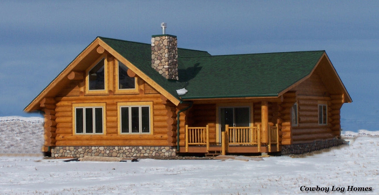 Small log cabin floor plans and pictures cowboy log homes for Log home building plans