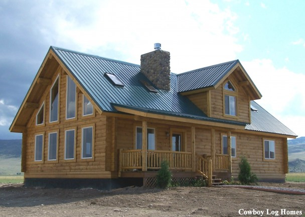 Milled Log Home ~Montana Plan