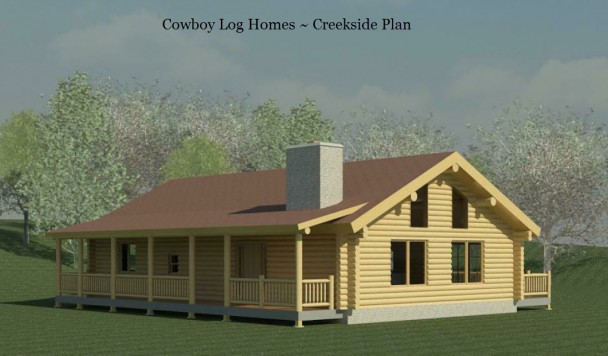 creekside log home elevation