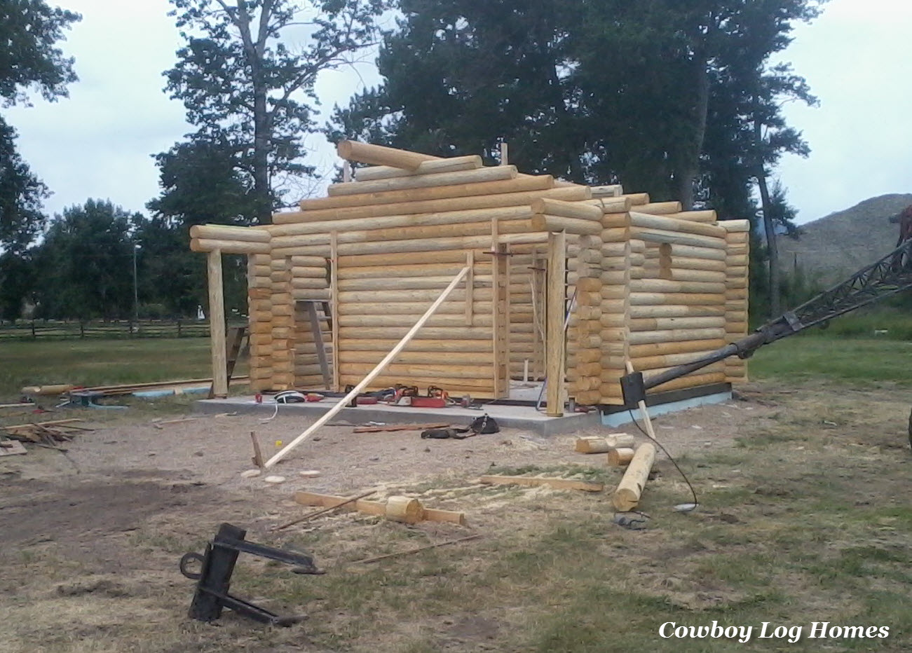 Why Log Cabin Kits Are Not Prefab Cowboy Log Homes