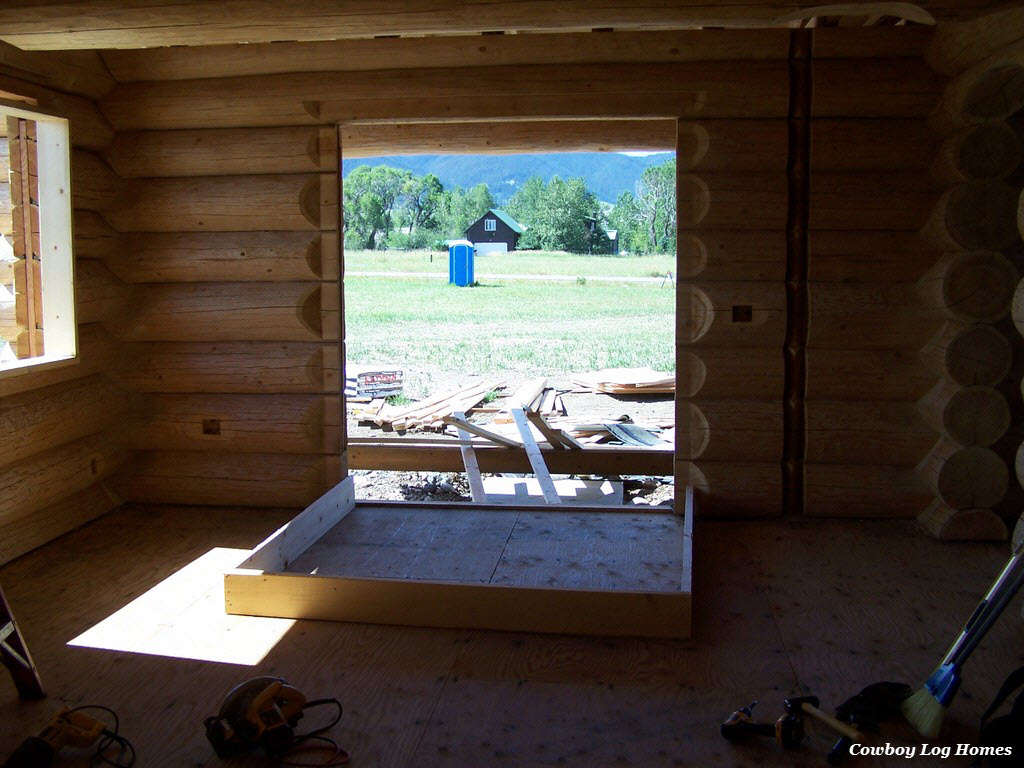 july 20th french door buck for log home