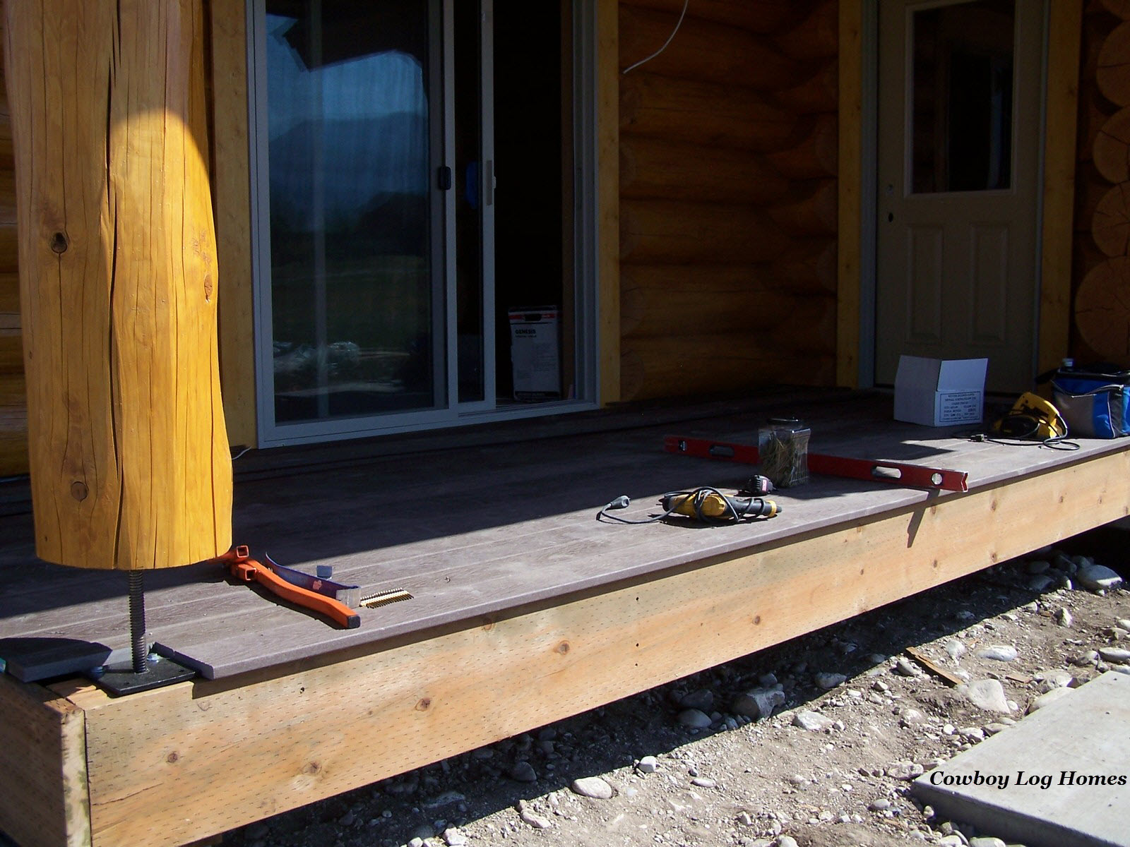 august 15th log home deck