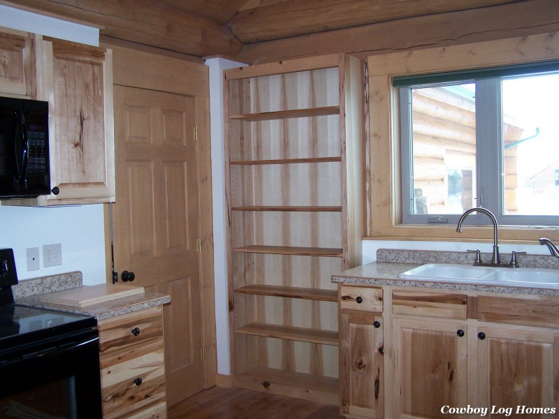 november 1st log home kitchen