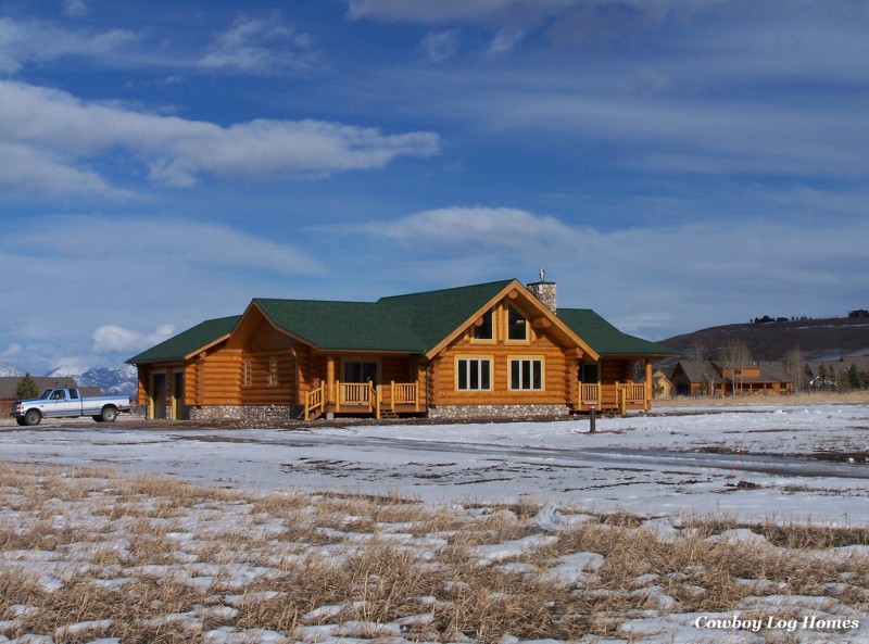 January 1st log home exterior
