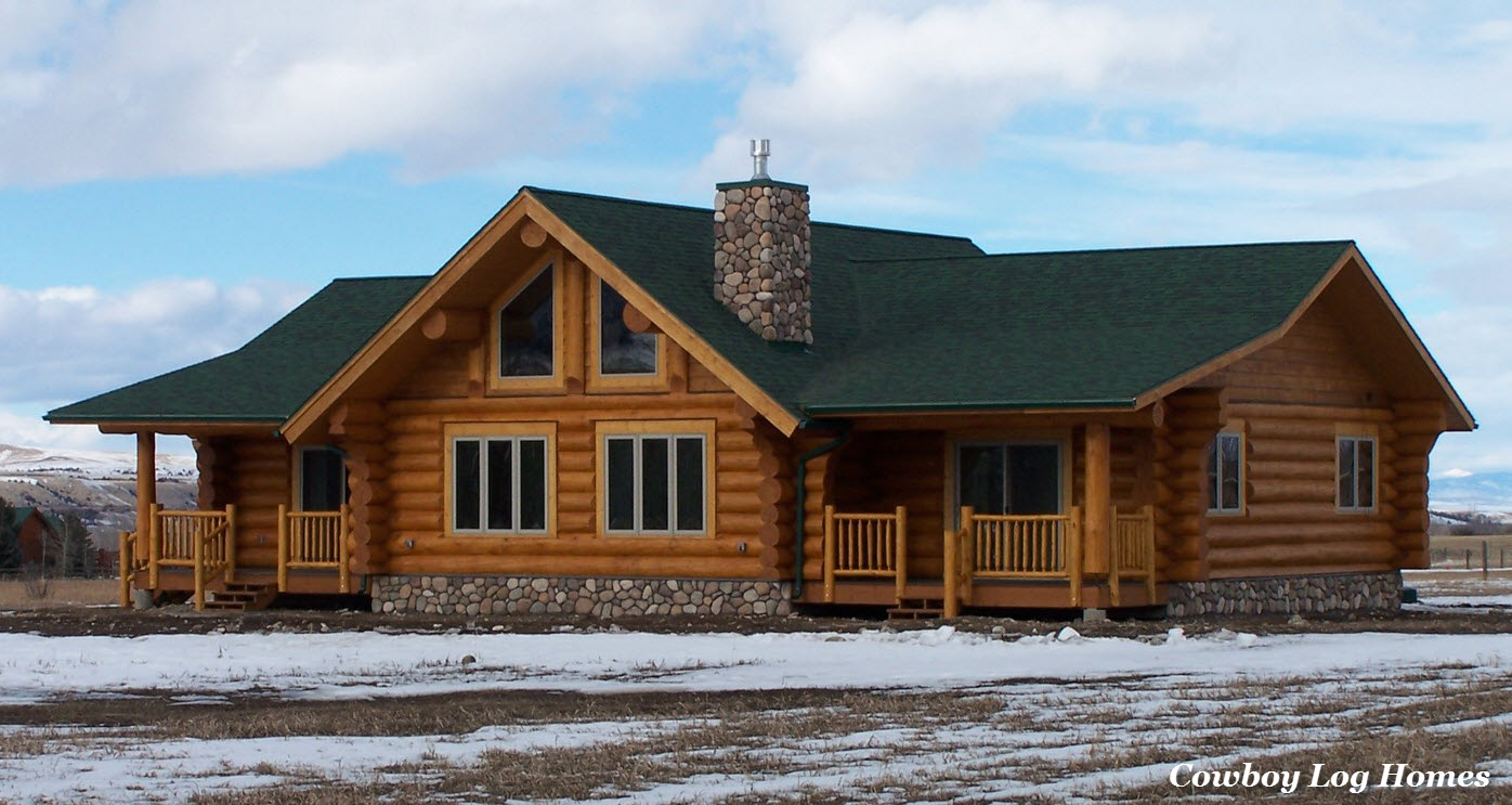 Custom Log Home Bozeman Mt Cowboy Log Homes