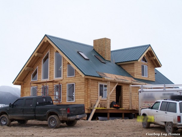 Why log cabin kits are not prefab cowboy log homes for Lowes cabins kits