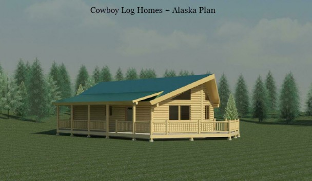 Alaska log home plan elevation
