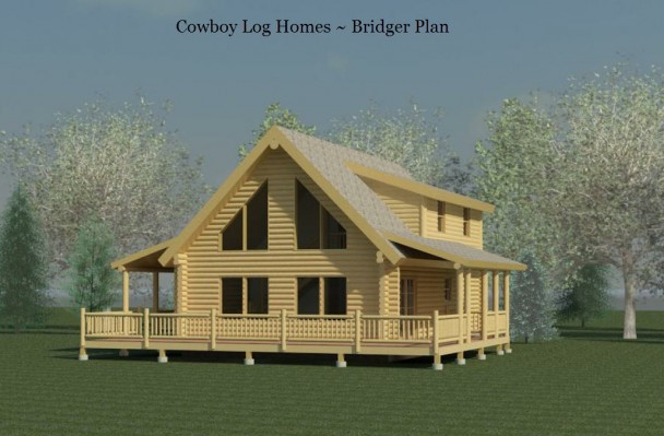 bridger log home elevation
