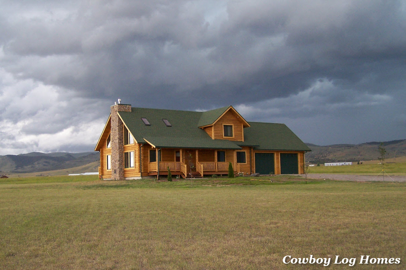 Western style log home plans home design and style for Western home builders