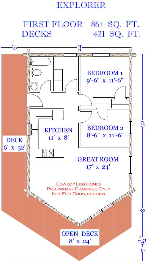 explorer log home plan